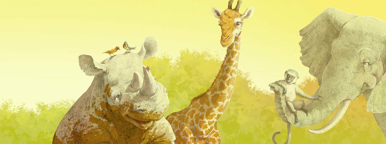 Image from Helping Brother Rhinoceros storybook. Copyright Kayla Harren